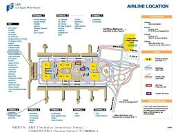 lax gate map airport information losangeles china eastern airlines