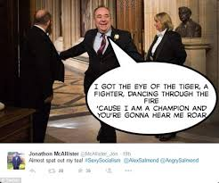 Alex Salmond Meme - alex salmond bursting into house of commons sparks new internet meme