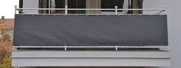 sichtschutz balkon grau angerer freizeitmöbel wind und sichtschutz balkonumspannung