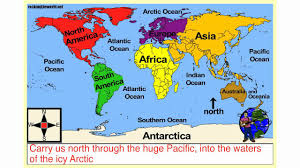 Map Of Continents And Oceans Sail Around The World Geography Song Youtube