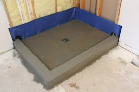 creating a threshold or curb for your shower