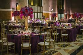 Red And Gold Reception Decoration Reception Décor Photos Union Station Reception Inside Weddings