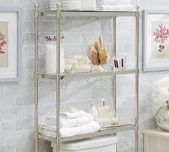 Bathroom Storage Behind Toilet Bathroom Storage Pottery Barn