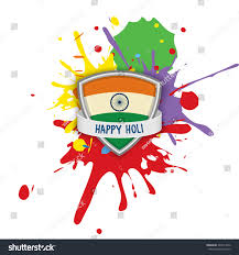 Festival Of Flags Indian Festival Happy Holi Flag India Stock Vector 244511656