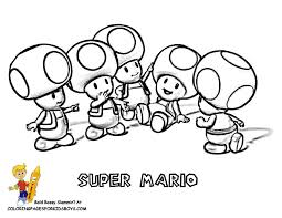 nintendo characters coloring pages kids coloring