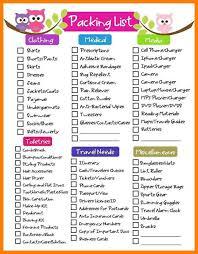 vacation packing list template eliolera com