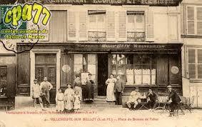 carte bureau de tabac carte postale ancienne de villeneuve sur bellot 77 place du