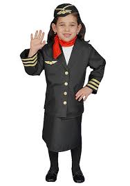 dress up america flight attendant children u0027s costume set for girls