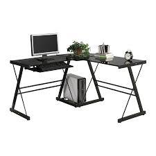 walker edison contemporary black l shaped desk