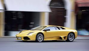yellow and black lamborghini lamborghini murcielago profile