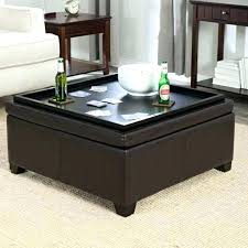 leather tray top ottoman fantastic ottoman with tray top 4 tray storage ottoman lovable