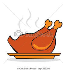 roasted turkey for thanksgiving day autumnal icon vector eps