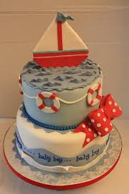 nautical baby shower cakes nautical baby shower cake for boy ideas horsh beirut