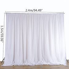 White Silk Curtains White Sheer Silk Cloth Drapes Panels Hanging Curtains Photo