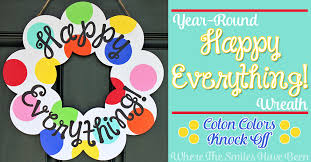 happy everything platter sale year happy everything wreath coton colors knock