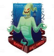 happy halloween funny picture card happy halloween funny light green ghost flying and smiling