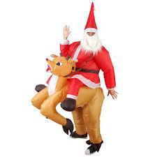 santa claus costume christmas party home decoration ride deer santa claus