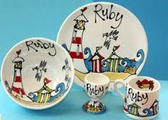painted platters personalized make or design your own diy clock this bisque pottery ceramic