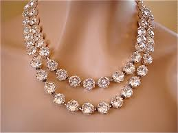 multi crystal necklace images Double strand swarovski crystal statement necklace diamond jpg