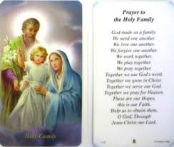 buy prayer to the holy family package of 100 paper holy cards