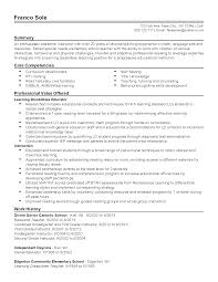 core competencies examples for resume special training on resume free resume example and writing download resume templates special needs teacher