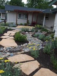 front walkway and dry creek bed