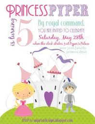 princess dragon birthday invitation sibling boy party invite