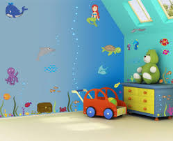 Bedroom Painting Ideas by Simple Kids Bedroom Wall Painting Ideas With Cartoon Figures