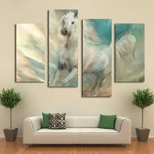 aliexpress com buy beautiful white horse canvas art prints
