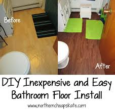 inexpensive and easy bathroom floor install