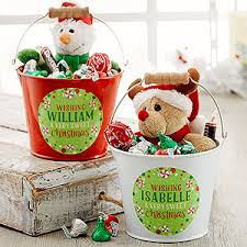 personalized buckets personalized mini metal sweet christmas