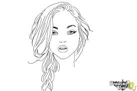 coloring page nice how to draw a woman fbody1 coloring page how