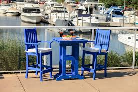 Blue Patio Furniture Sets - bar height patio furniture sets