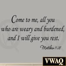 matthew 11 28 bible wall decals vwaq decals