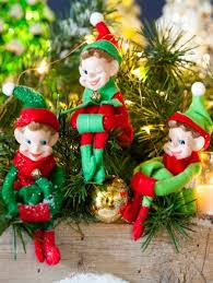 classic christmas classic christmas elves from memory package of 3 ornaments