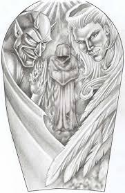 angel and devil by yoocysco reaper pinterest devil tattoo