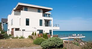 california style modern beach house on lake michigan modern
