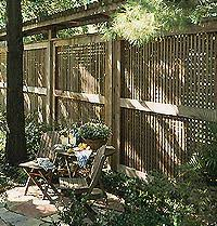 Backyard Privacy Screens by Grillwork Screen Vine Pole