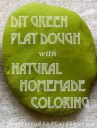 diy green play dough with homemade non toxic coloring