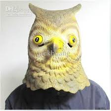 owl mask creepy owl mask costume theater prop novelty