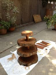wedding cake stands made of wood seaweed wedding fabulous natural