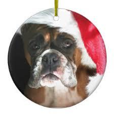 boxer dog xmas boxer dog ornaments u0026 keepsake ornaments zazzle