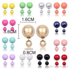 cheap stud earrings women plastic pearl stud earrings fashion simulation pearl