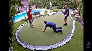 Building A Backyard Putting Green Synlawn Putting Green Youtube