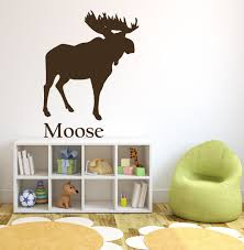 jungle wall decals vinyl stickers forest animal wall decals moose north american animals brown