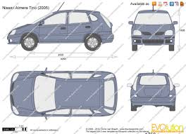 nissan almera 2002 the blueprints com vector drawing nissan almera tino