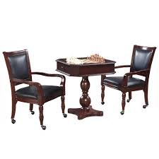 chess table and chairs set hathaway mahogany fortress chess checkers backgammon pedestal