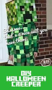 Minecraft Creeper Halloween Costume Easy Minecraft Creeper Costume U0027s Comfy Wear Creeper