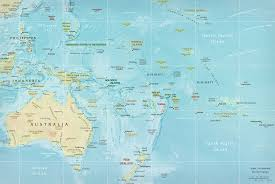 New Zealand And Australia Map Map Of Oceania Pacific Islands French Polynesia