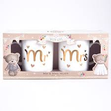 Wedding Gift Set Hugs Mr U0026 Mrs Mugs Wedding Gift Mug Set For 2